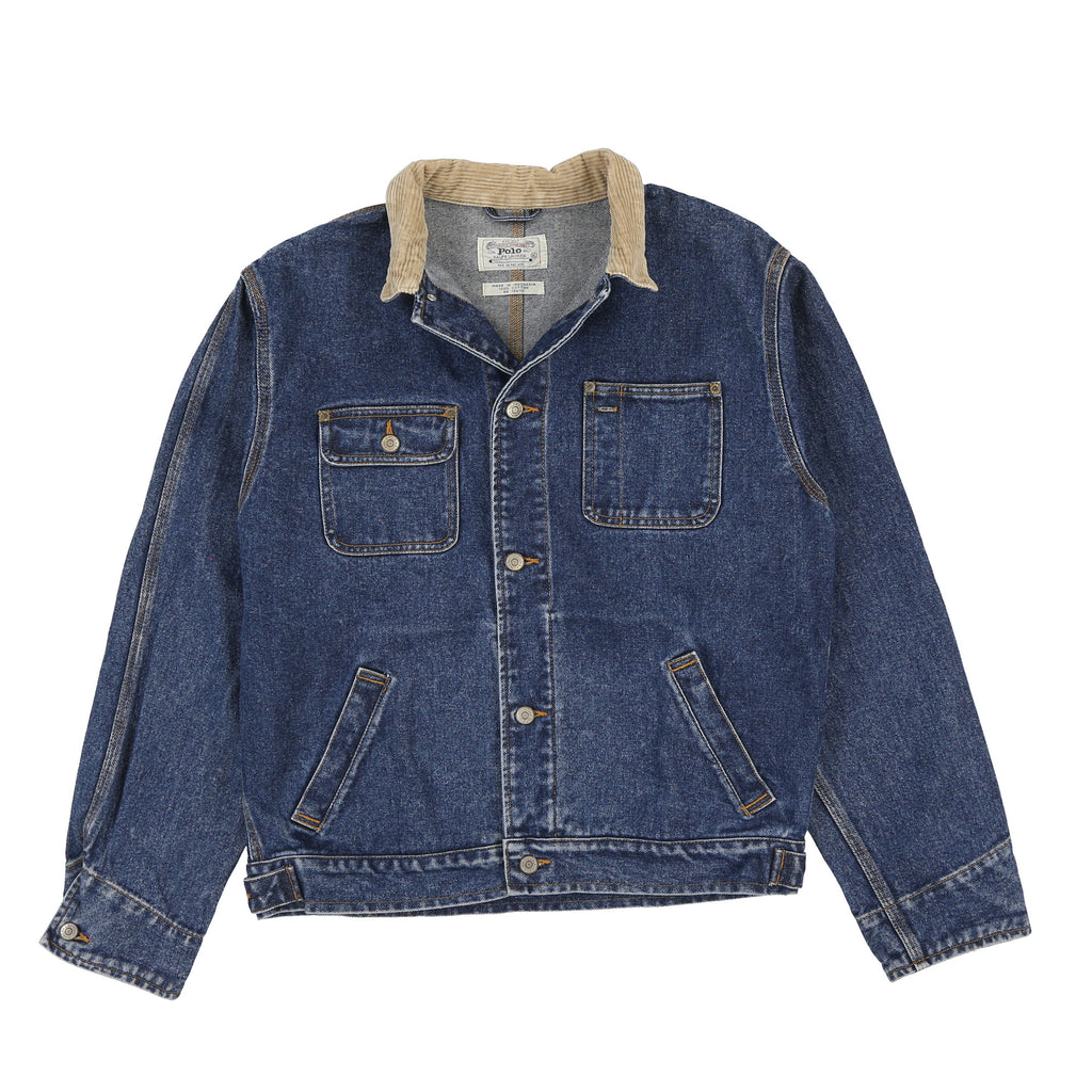 POLO CORD COLLAR DENIM JACKET