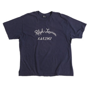 POLO RL CHAINSTITCH TEE // NAVY
