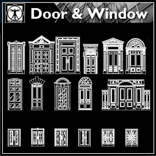 70 Types of Best door design ideas - CAD Design | Download CAD Drawings | AutoCAD Blocks | AutoCAD Symbols | CAD Drawings | Architecture Details│Landscape Details | See more about AutoCAD, Cad Drawing and Architecture Details