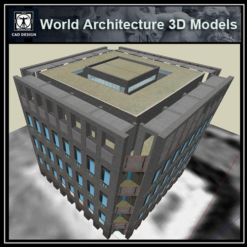 Sketchup 3D Architecture models- Exeter Library (Louis Kahn )