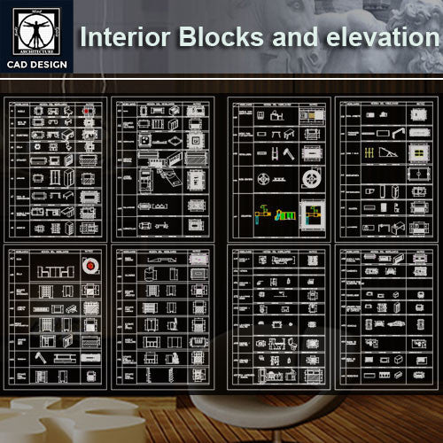 All Interior Design Blocks and elevation - CAD Design | Download CAD Drawings | AutoCAD Blocks | AutoCAD Symbols | CAD Drawings | Architecture Details│Landscape Details | See more about AutoCAD, Cad Drawing and Architecture Details