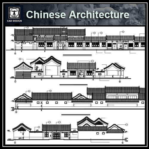Chinese Architecture CAD Drawings-Architecture Elevation Design - CAD Design | Download CAD Drawings | AutoCAD Blocks | AutoCAD Symbols | CAD Drawings | Architecture Details│Landscape Details | See more about AutoCAD, Cad Drawing and Architecture Details