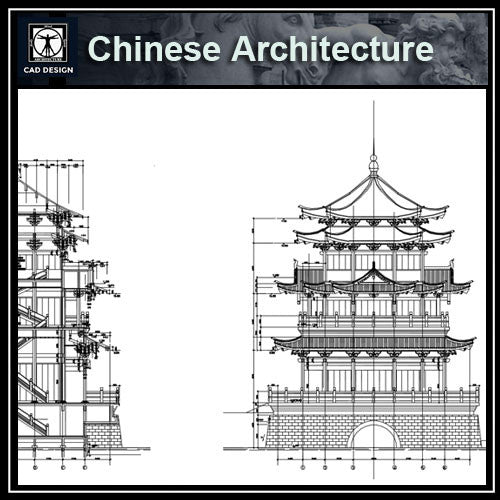 Chinese Architecture CAD Drawings 2 - CAD Design | Download CAD Drawings | AutoCAD Blocks | AutoCAD Symbols | CAD Drawings | Architecture Details│Landscape Details | See more about AutoCAD, Cad Drawing and Architecture Details