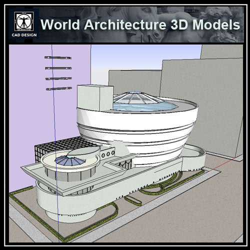 Sketchup 3D Architecture models-Guggenheim Museum(Frank Lloyd Wright)