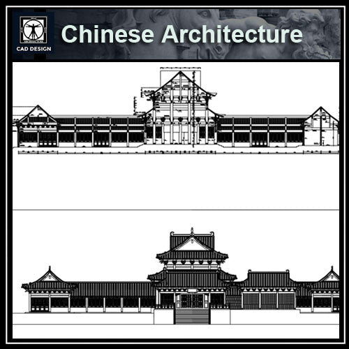 Chinese Architecture CAD Drawings 4 - CAD Design | Download CAD Drawings | AutoCAD Blocks | AutoCAD Symbols | CAD Drawings | Architecture Details│Landscape Details | See more about AutoCAD, Cad Drawing and Architecture Details