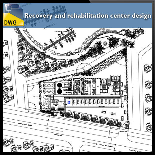 Recovery and rehabilitation center design drawing