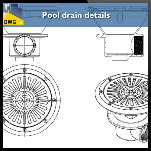 Free Pool drain detail autocad files