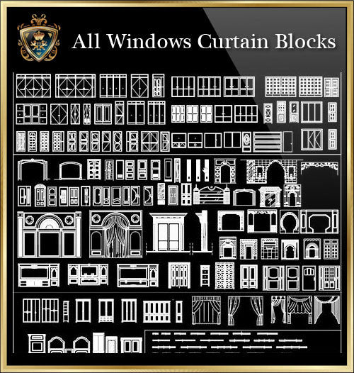 Windows Curtain CAD Blocks Collection