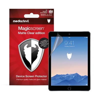 "Apple iPad (2017-2018), iPad Pro (9.7"") & iPad Air 1/2 Matte Clear (Anti-Glare) Screen Protector 