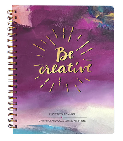 2019 Inspired Year Planner Softcover - Be Creative