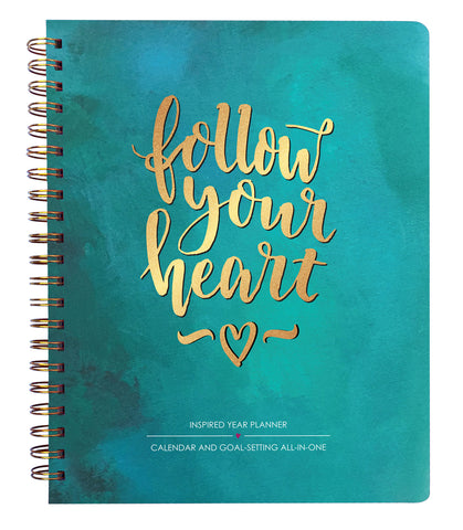 2019 Inspired Year Planner Softcover - Follow Your Heart