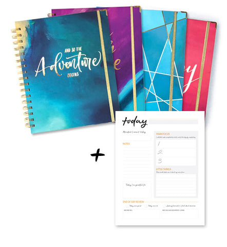 Planner + Daily Notepad Bundle