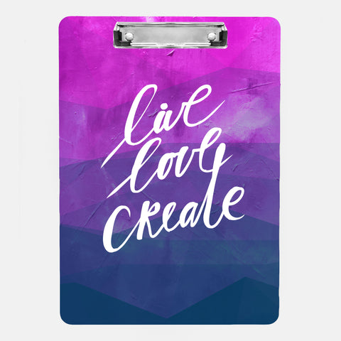 Inspired to Create Clipboard | Live Love Create