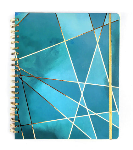 2019 Inspired Year Planner | Large - Aqua Fragment |