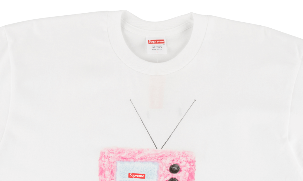 "SUPREME TV TEE ""WHITE"""