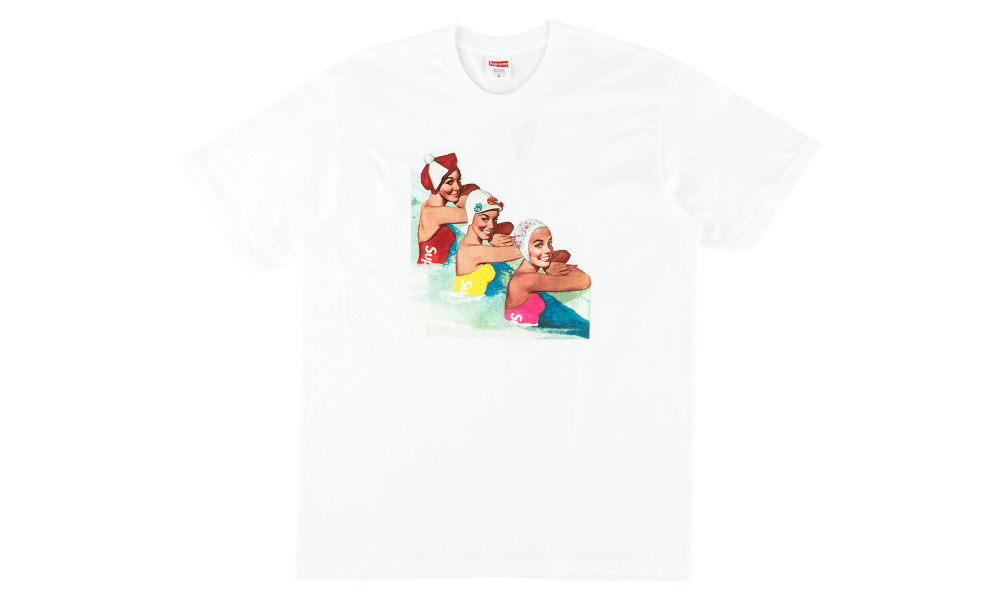 "SUPREME SWIMMER TEE ""WHITE"""