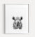 Baby Rhino Printable Art - Black and White