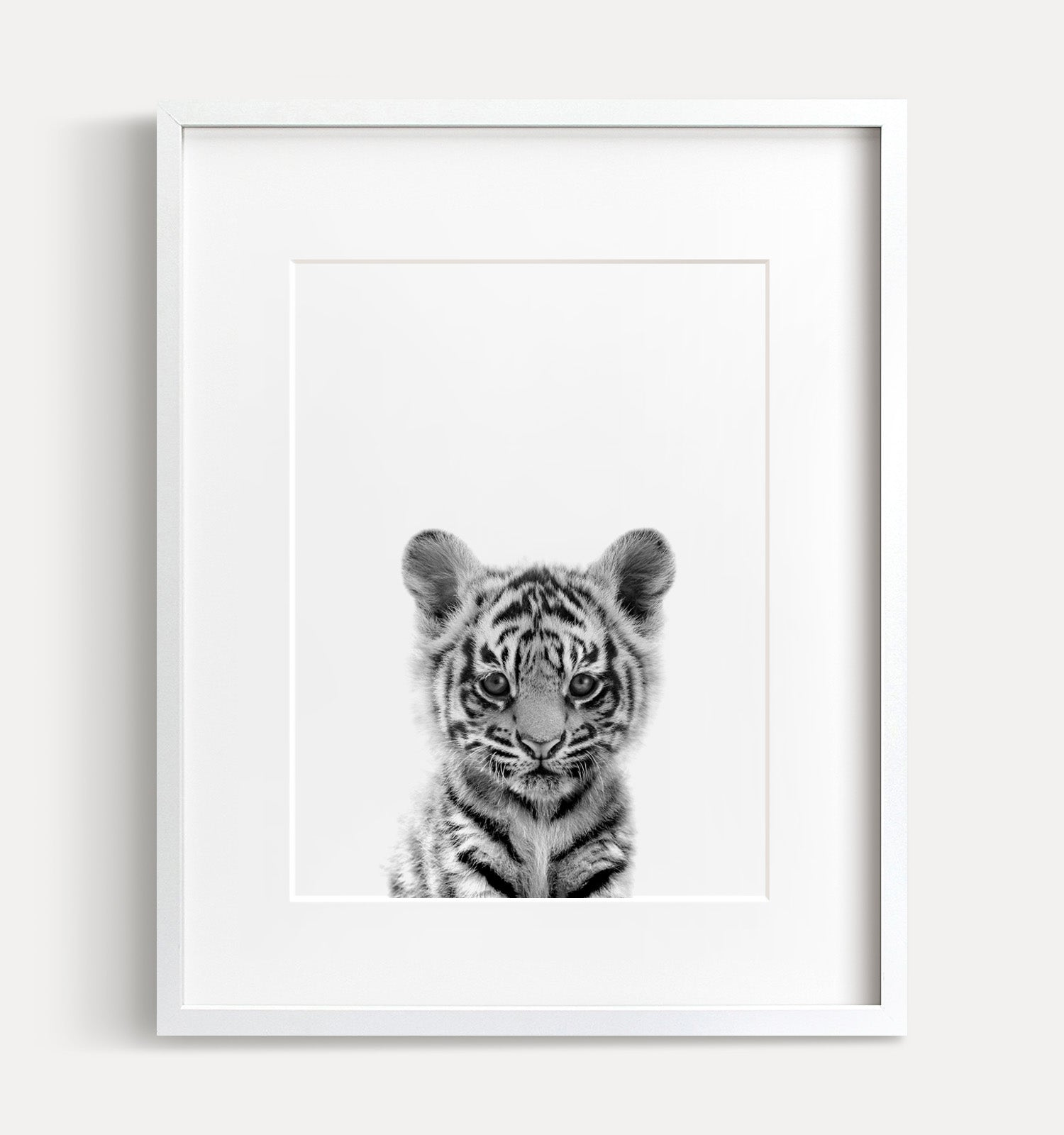 Baby Tiger Printable Art - Black and White