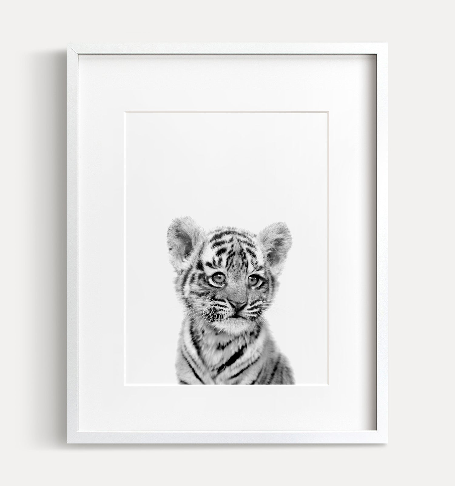 Baby Tiger Printable Art No. 2 - Black and White