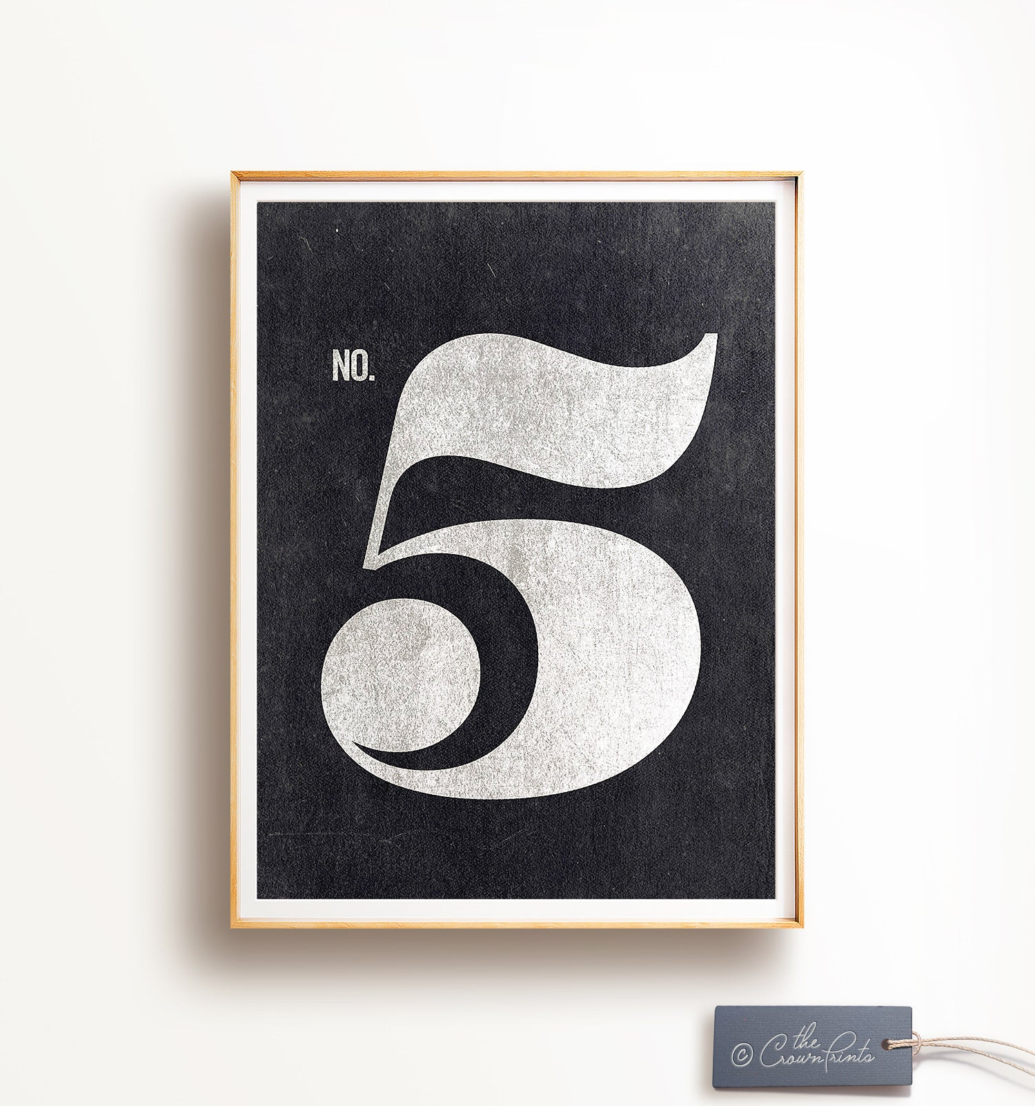 Number Five Printable Art