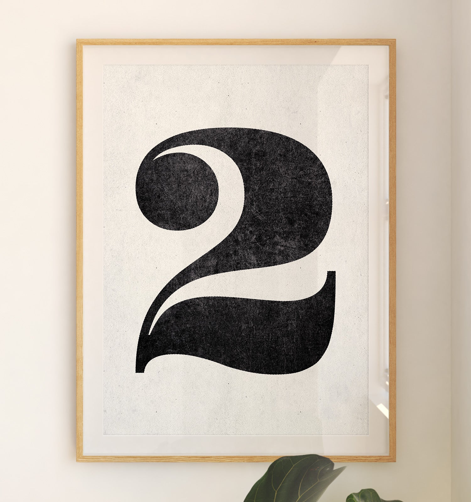 Number Two Printable Art (White)