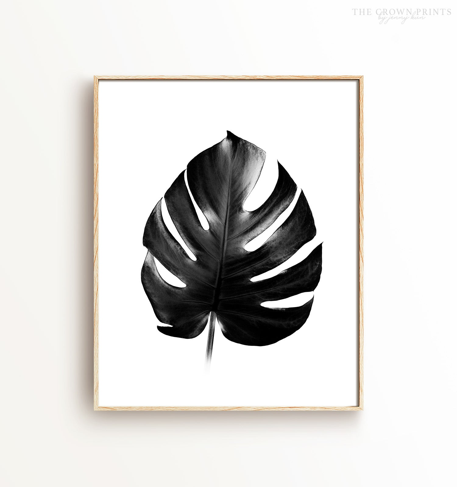 Philodendron Printable Art in Black and White