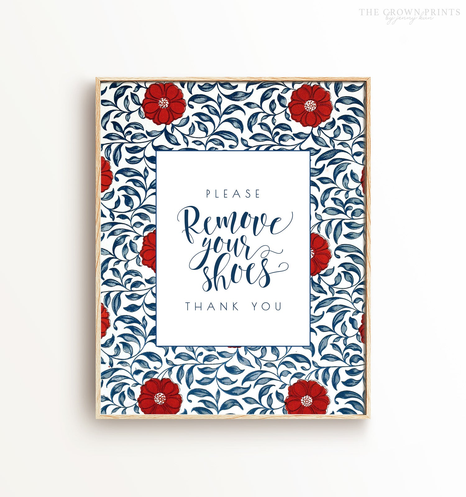 Please Remove Your Shoes Patterned Printable Art