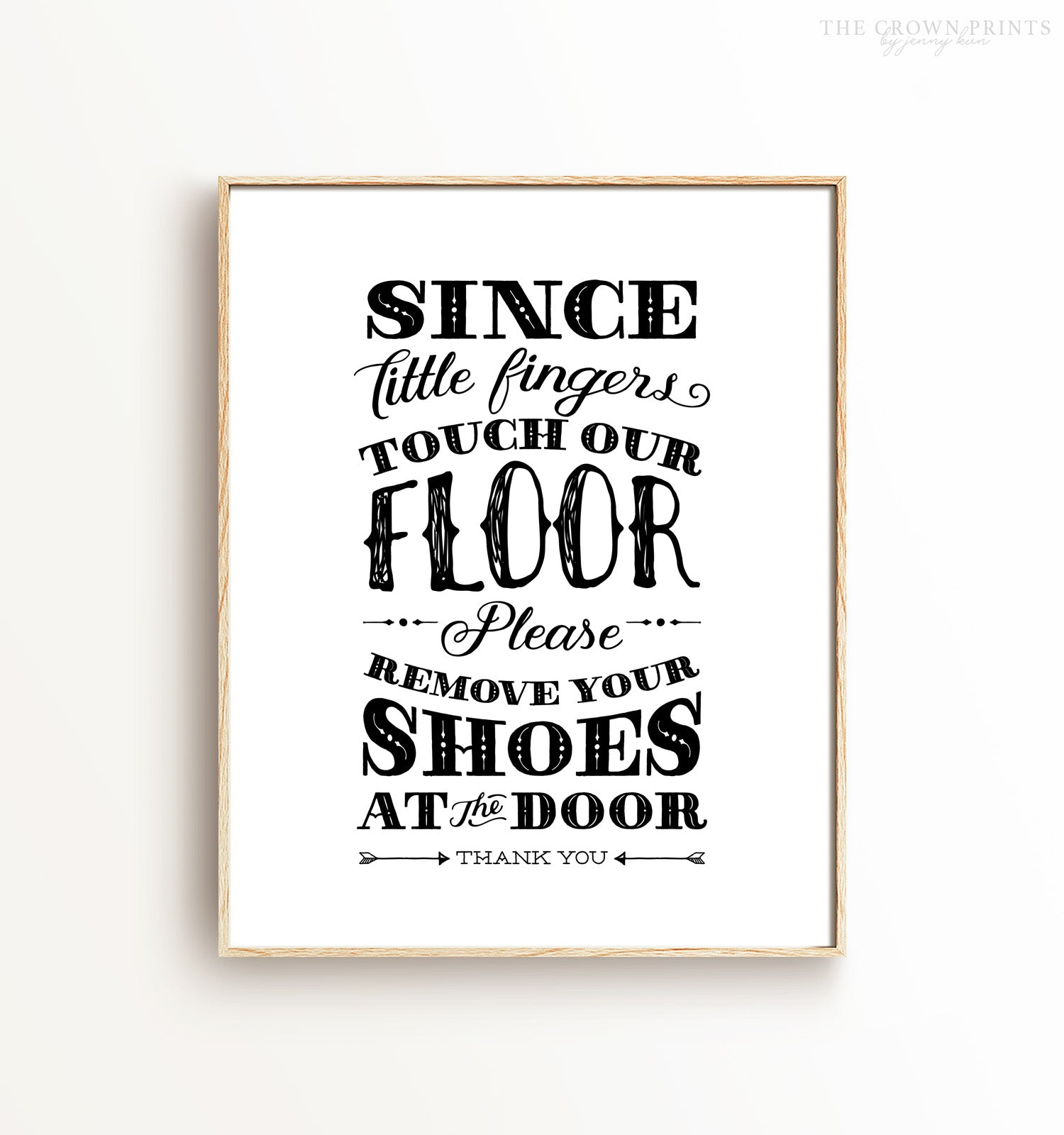 Since little fingers touch this floor Printable Art