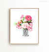 Watercolor floral bouquet Printable Art