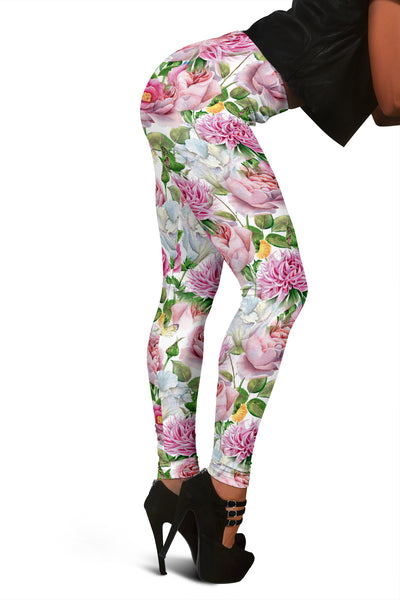 Watercolor Floral Leggings