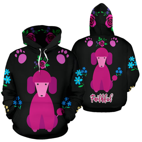 Faithful Pink Poodle Dog All Over Print Hoodies Cute Poodles Dogs