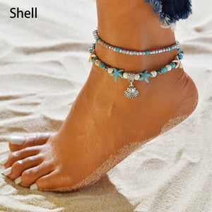 Ocean Boho Anklet Collection