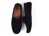 Car Shoes // Navy Blue Suede