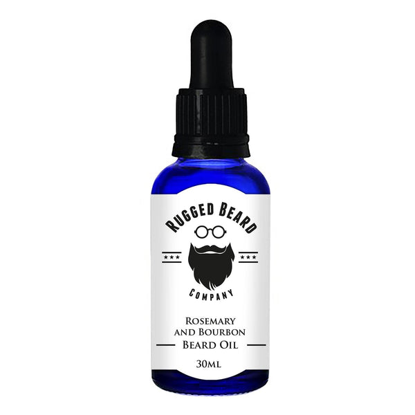 Rosemary and Bourbon Growth Promoting Beard Oil - The Rugged Beard Company