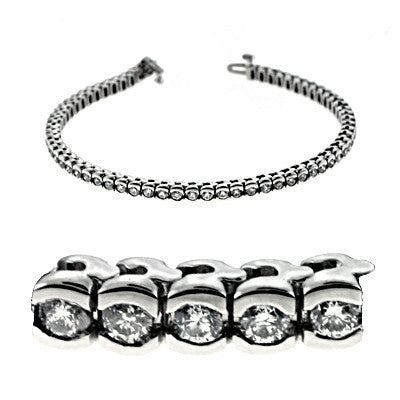 Tube Tennis Diamond Bracelet