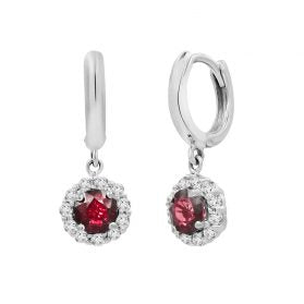 14K Ruby & Diamond Earrings. #1163-E1611W-R