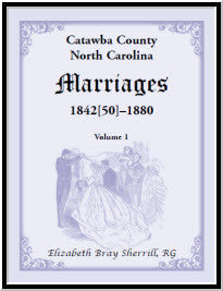 Catawba County, North Carolina Marriages, 1842[50] -1880