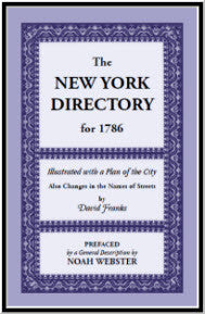 New York Directory for 1786