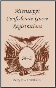 Mississippi Confederate Grave Registrations M - Z