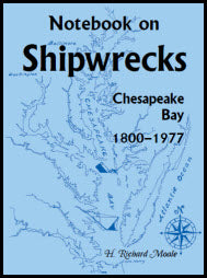 Notebook On Shipwrecks, Chesapeake Bay, 1800-1977