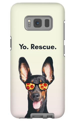 Samsung Galaxy S8 Yo Rescue Pizza Dog Phone Case with Tough Rugged Protection