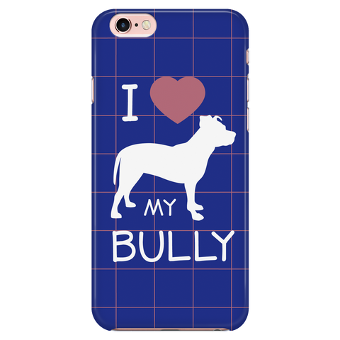 iPhone 7/7s I Love My Bully Phone Case with Ultra Slim Durable Profile
