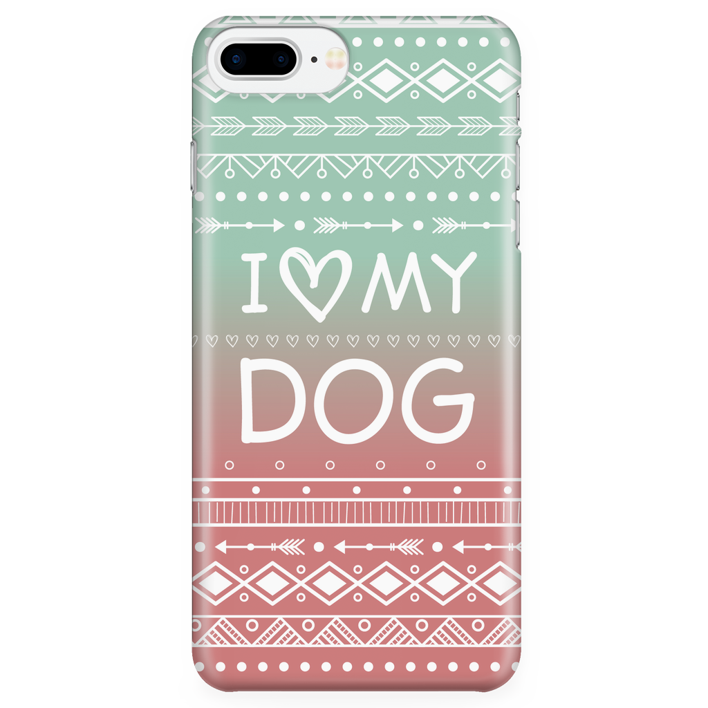 iPhone 7/7s Plus I Love My Dog Phone Case with Ultra Slim Durable Profile
