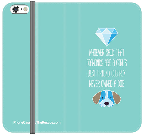 Diamonds & Dogs Folio Case - iPhone 7/8