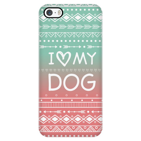 iPhone 5/5s I Love My Dog Phone Case with Ultra Slim Durable Profile