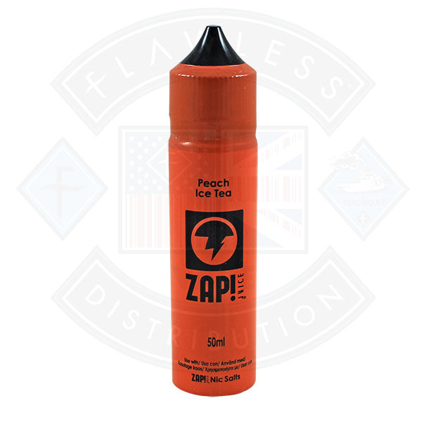 Zap! Peach Iced Tea 50ml 0mg Shortfill E-Liquid