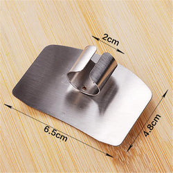 Kitchen - 1 Pc Finger Protector Stainless Steel Cutting Vegetable Finger Hand Protector Slice Guard