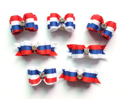 Pets - 30pcs  Day Dog Bowties American Independence Pet Dog Hair Bows Bow Ties