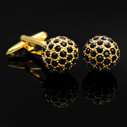 Black Cubic Zirconia Cufflinks