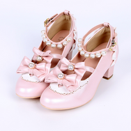 Lolita Pearl Bow Lace Shoes yv42275